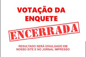 VOTAÇÃO DA ENQUETE ENCERRADA