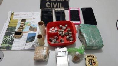 Droga apreendida pela Polícia Civil durante operação