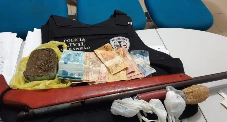 Material apreendido durante a operação policial