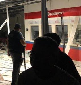 Banco Bradesco foi explodido