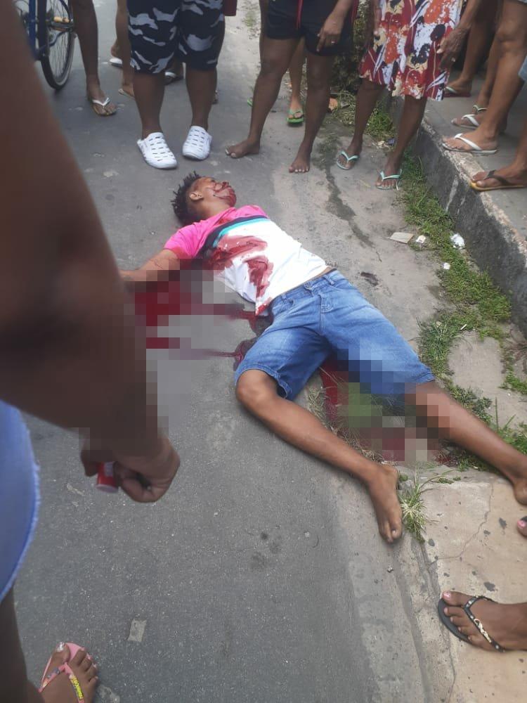 Jovem foi executado a tiros no Bairro de Fátima