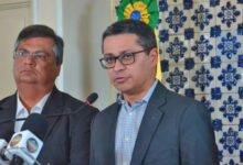Carlos Lula ao lado do Governador Flávio Dino (foto arquivo)