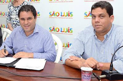 Prefeito Edivaldo Holanda Júnior e Lula Filho