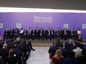Apresentação oficial do Plano Nacional de Imunização contra a covid-19, no Palácio do Planalto, em Brasília