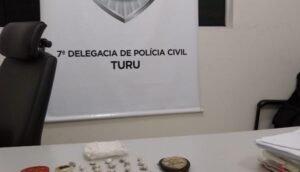 Apreensão de drogas realizado pela 7° Delegacia de Polícia do Turu