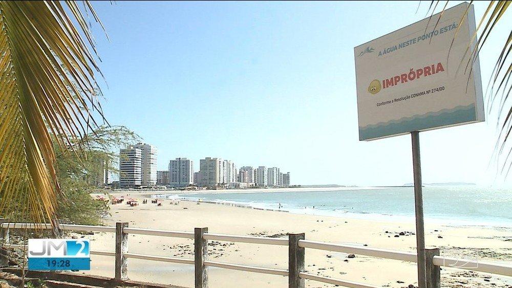 Veja onde estão os pontos impróprios para banho nas praias da Grande São Luís