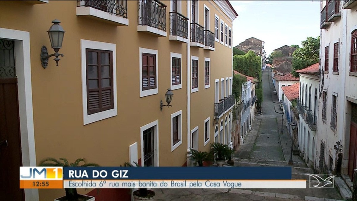 Rua do Giz, em São Luís, é eleita uma das seis ruas mais bonitas do país